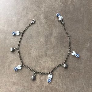 Silver Chained Charm Bracelet